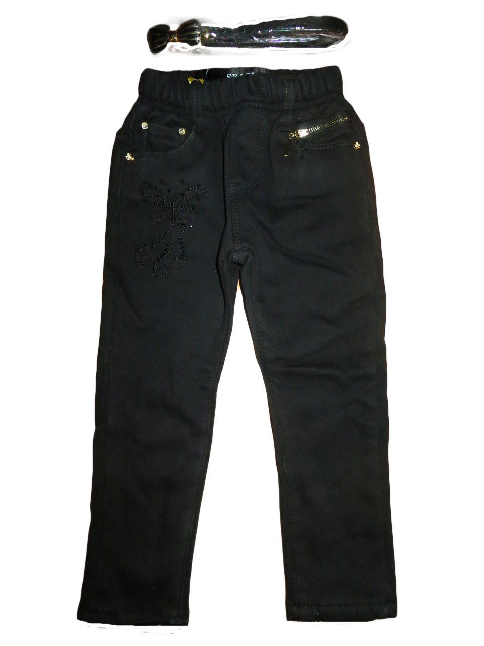 Коттоновые утеплённые брюки для девочек, размеры 98(3шт) Seagull. арт. 88209