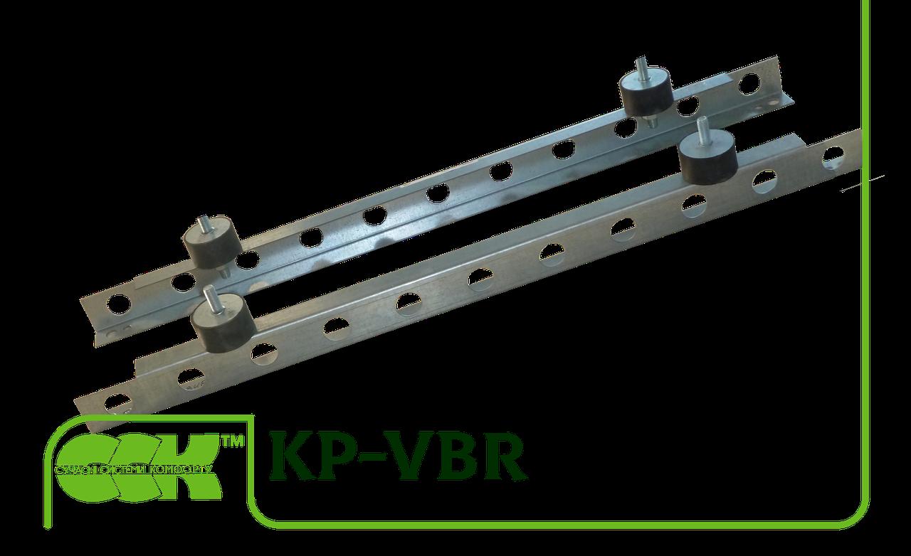 Основание виброизолирующее канальное квадратное KP-VBR-42-42