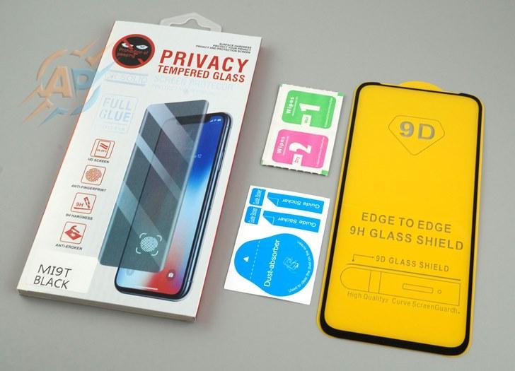 Защитное стекло 9D для Xiaomi Mi 9T черное