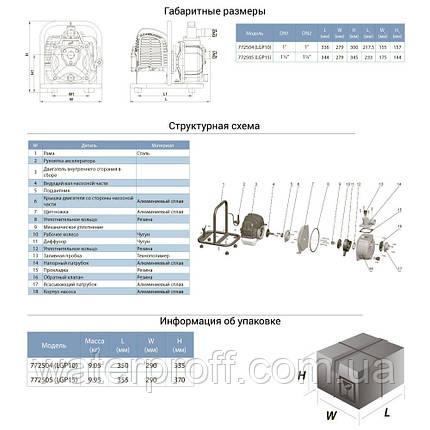 Мотопомпа 1.6л.с. Hmax 35м Qmax 6м³/ч (2-х тактный) LEO (772504), фото 2