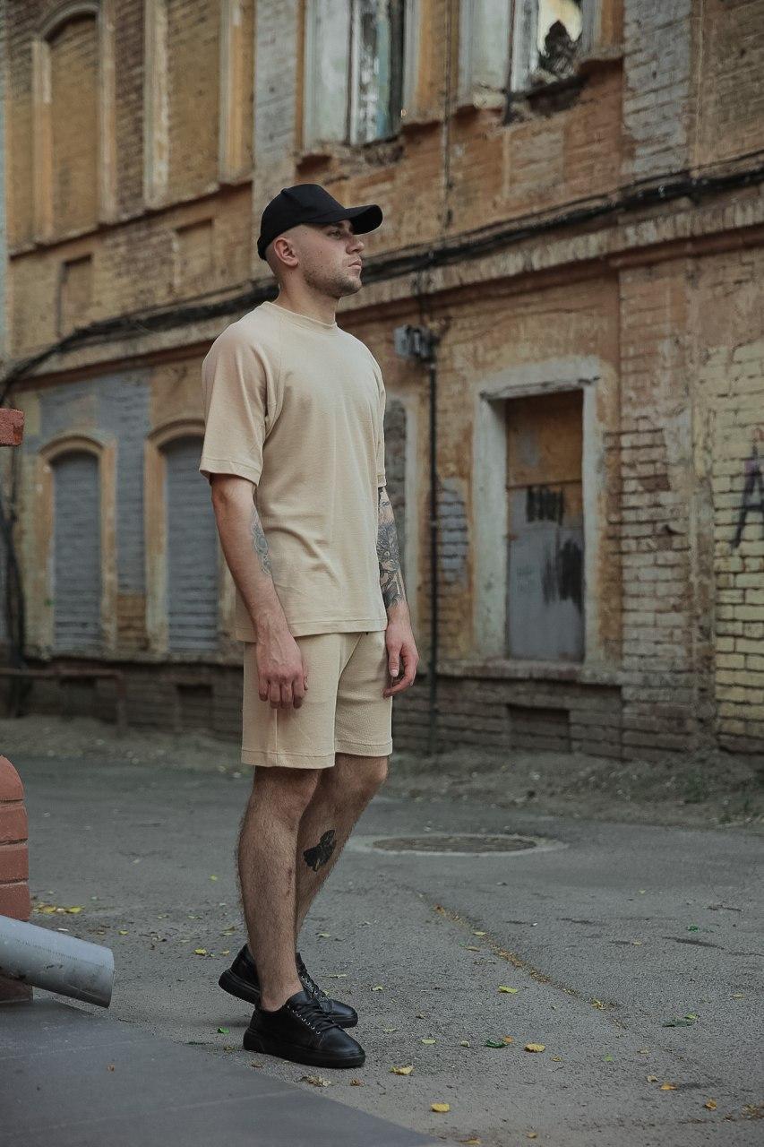 Стильный мужской комплект оверсайз ( шорты + футболка )