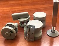 Полный комплект фурнитуры для монтажа сантехнических и туалетных перегородок