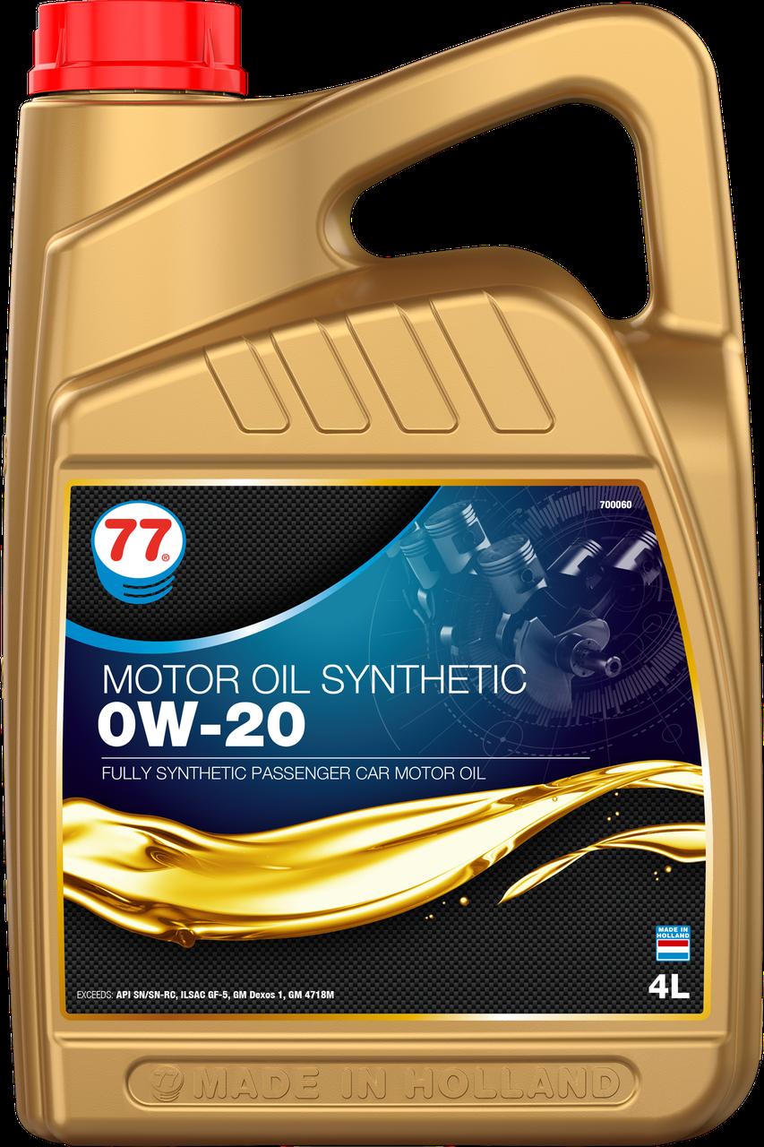 77 MOTOR OIL SYNTHETIC 0W-20 (кан. 4 л)