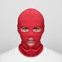 Балаклава, маска (Бандитка) Червона, Унісекс, фото 1