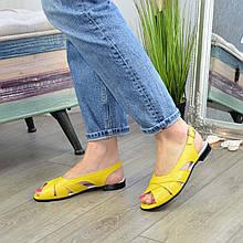 Босоножки кожаные женские Vasha Para 1364 36 цвет желтый