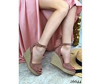 Женские босоножки   на плетенной подошве 40