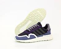 Мужские кроссовки Adidas ZX 500 черные-синие-фиолетовые 41