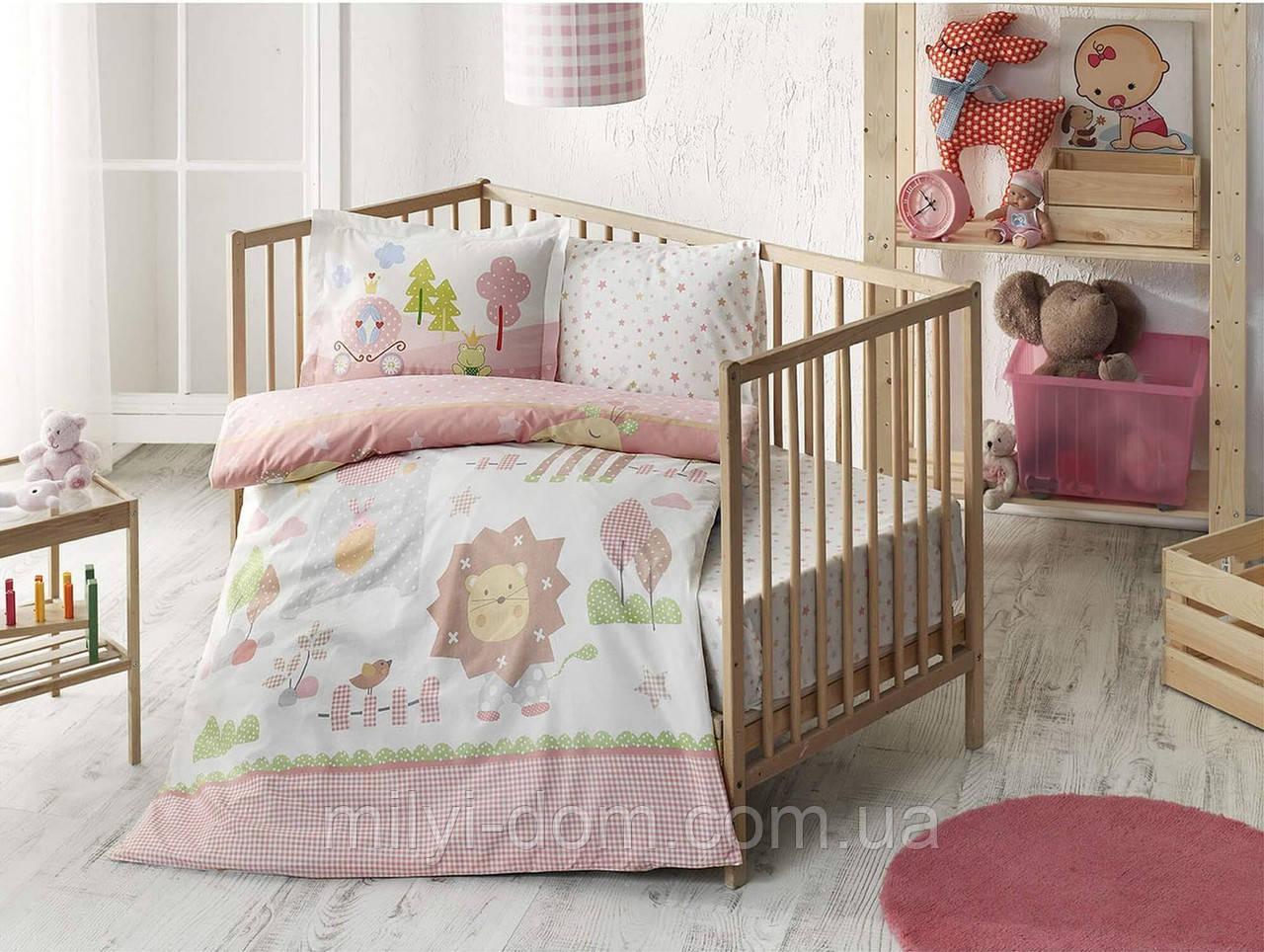 Постельное белье для новорожденных ТАС Happy Zoo Pink