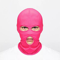 Балаклава, маска (Бандитка) Рожева 1, Унісекс, фото 1