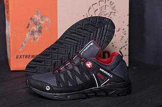 Мужские летние кроссовки сетка   Merrell Grey/Black ПК-М 3 красн N сет, фото 2