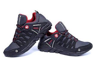 Мужские летние кроссовки сетка   Merrell Grey/Black ПК-М 3 красн N сет, фото 3