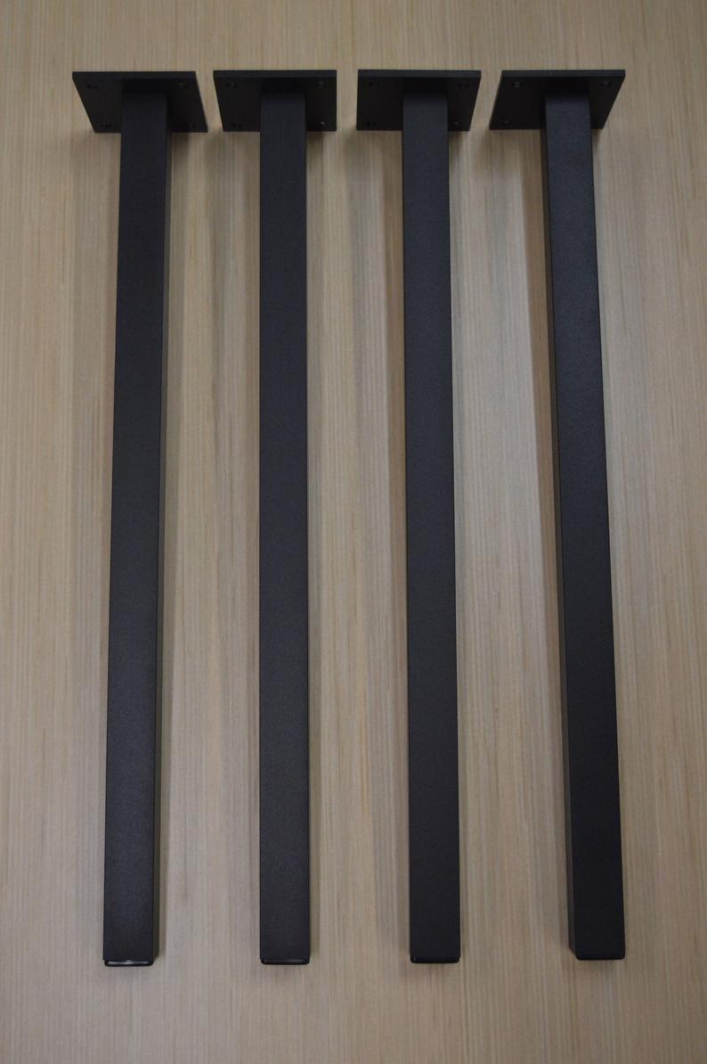"""Черные металлические ножки для стола """"Кая"""" опоры для столика в ресторан"""