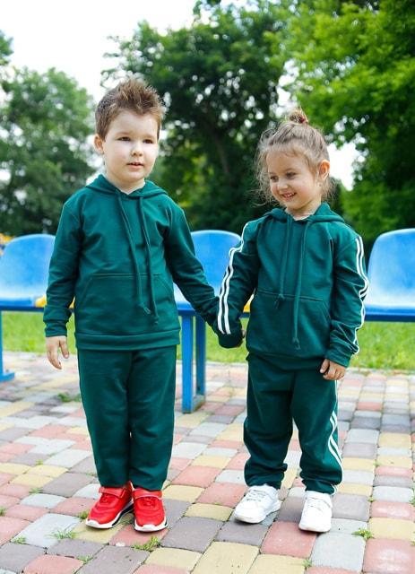 Дитячий трикотажний спортивний костюм Eliza изумрудный (480)