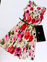 Женское платье цветами, фото 1
