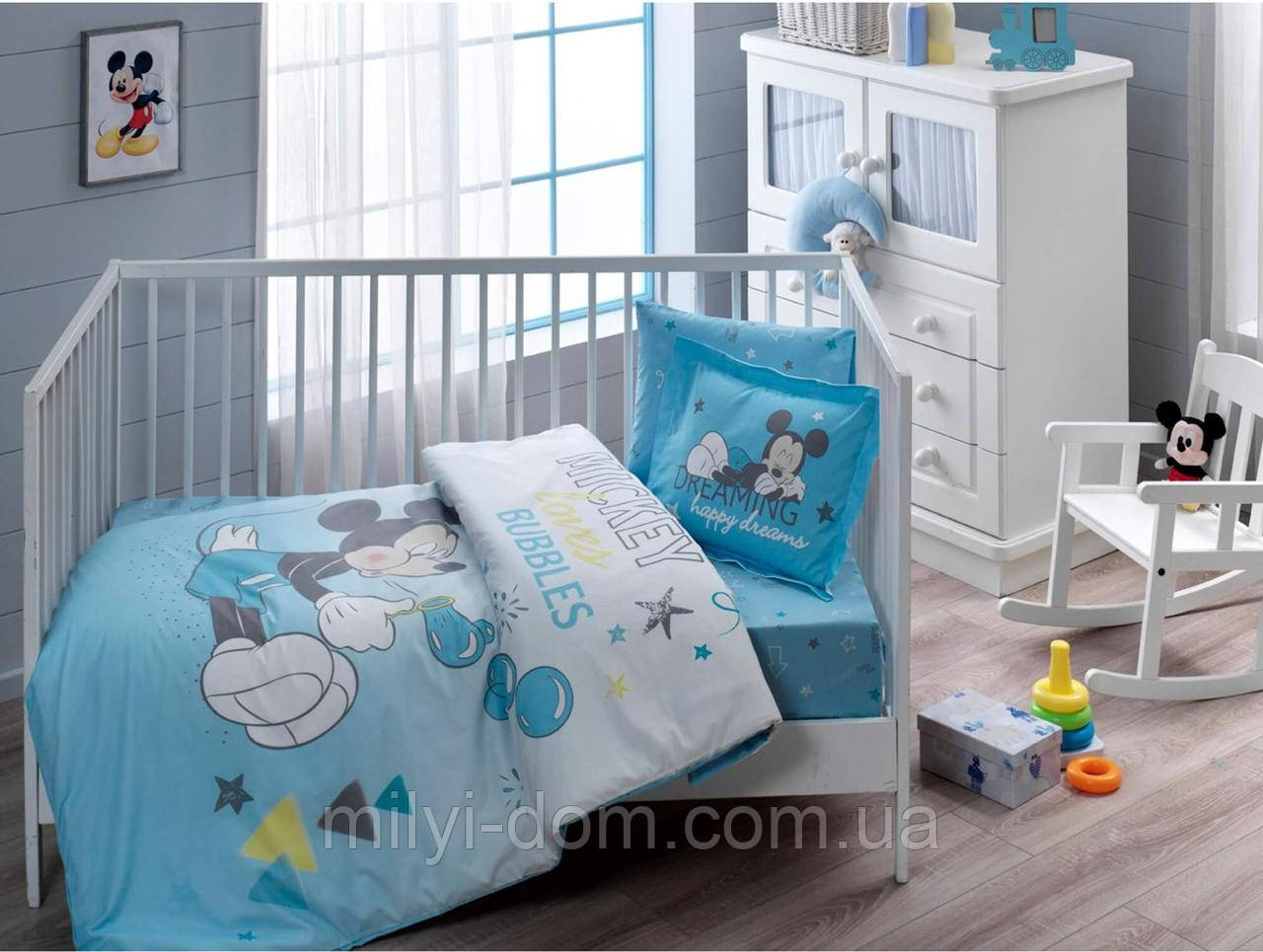 Постельное белье для новорожденных ТАС Disney Mickey Bubble Baby