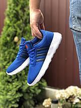 Синие кроссовки мужские сетка классика мягкие, фото 2