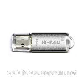 Флешка USB 3.0, Hi-Rali 64GB Rocket series, серебристая, фото 2