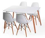 Стол обеденный НУРИ белый 120х80 см на буковых ножках SDM Group (бесплатная доставка), фото 7