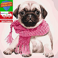 Картина по номерам Розовое настроение Рожевий настрій 40*40см KHO4107 Розпис по номерах