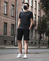 Комплект Puma bmw motorsport Шорты Футболка черный   Спортивный костюм мужской летний ЛЮКС качества