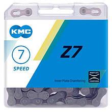 Цепь KMC (кмс) Z7 1/2х3/32х116L, 7 звезд, соединительный пин(411238)