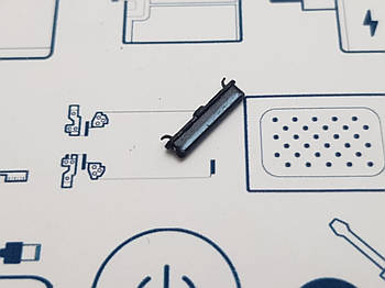 Кнопка включения Samsung A40 A405F черная Сервисный оригинал с разборки