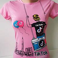 """Футболка для девочки """"tiktok"""". Турция 7-12 лет, фото 1"""