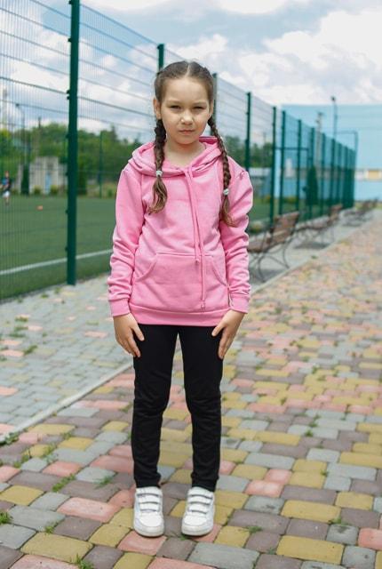 """Дитячий спортивний костюм """"Eliza"""" рожево-чорний"""