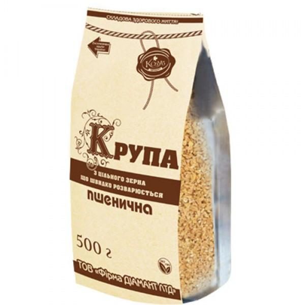 Крупа пшеничная  из цельного зерна быстроразваривающаяся Козуб 500г