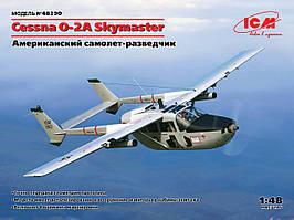 Cessna O-2A Skymaster, американский разведывательный самолет. 1/48 ICM 48290