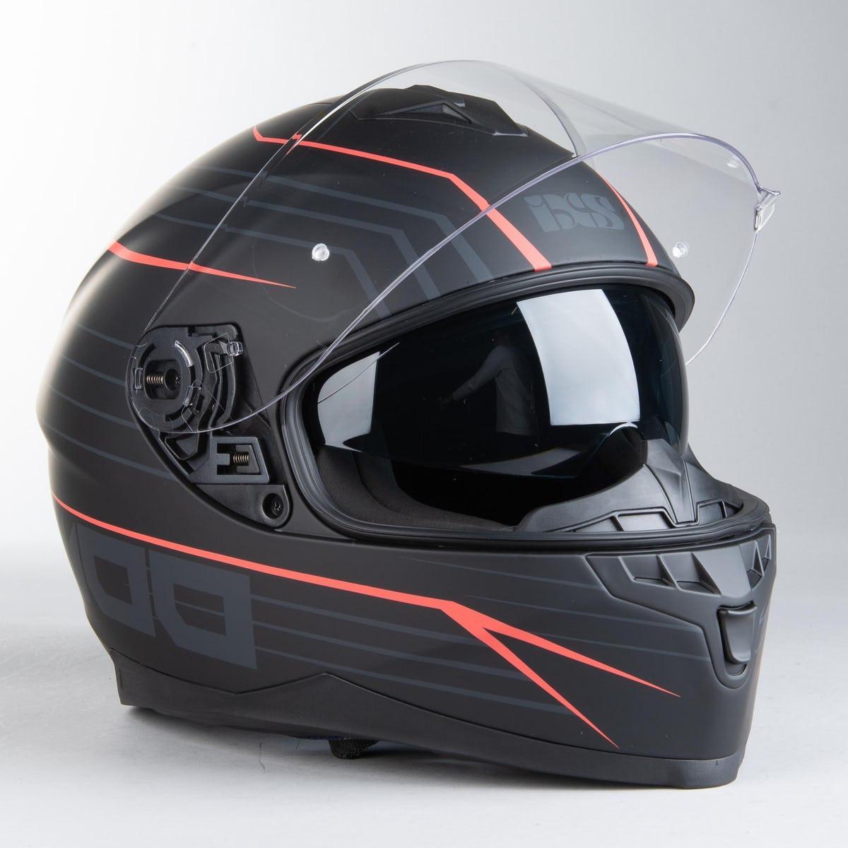 Шлем интеграл IXS 1100 2.1 Full Face Helmet Matte Black-Red  Мат