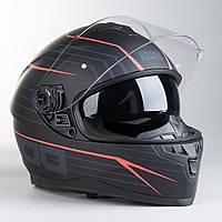 Шлем интеграл IXS 1100 2.1 Full Face Helmet Matte Black-Red  Мат, фото 1
