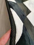 """Безкоштовна доставка! Килим """"Ромб чорно білий"""" (190 *230 м), фото 4"""
