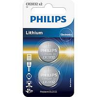 Батарейки Philips Lithium CR 2032 2 шт