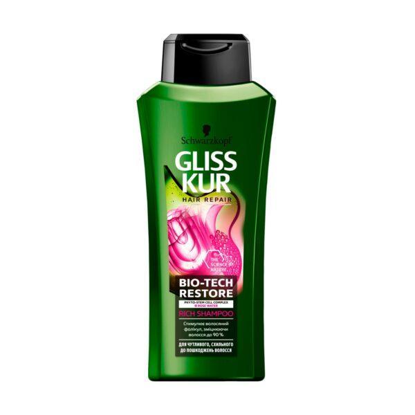 Шампунь Gliss Kur Bio-Tech Restore для чувствительных, склонных к повреждению волос, 400 мл