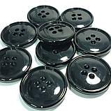 Пуговица пластиковая, диаметр 2 см, цвет чёрный. Бренд MaxMara., фото 5