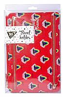 Тревел-холдер для документов Yes Fancy 3 отд., 16x24 см красный