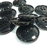 Пуговица пластиковая, диаметр 2 см, цвет чёрный. Бренд MaxMara., фото 3