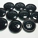 Пуговица пластиковая, диаметр 2 см, цвет чёрный. Бренд MaxMara., фото 2