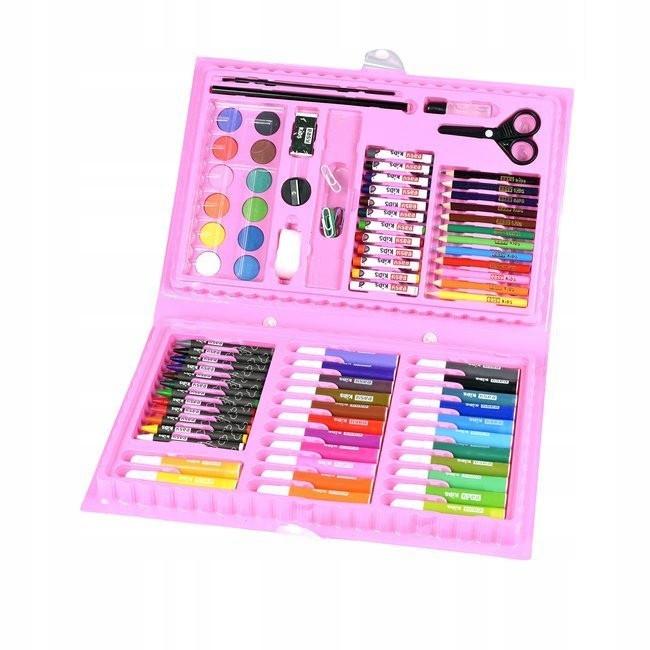 Набор для рисования для девочек 86 предмета Розовый 154687