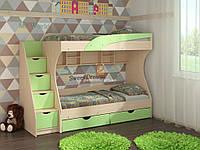 Двухъярусная кровать Кадет. Детская, подростковая кровать. ДСП+МДФ