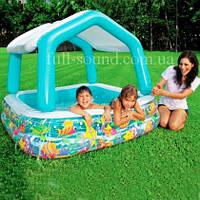 """Детский надувной бассейн  Intex """"Домик"""""""