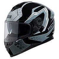 Шлем интеграл IXS 1100 2.2 Full Face Helmet  Black-Grey  gloss глянец