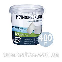 Таблетки хлор для басейну «Комбі 3 в 1» Kerex 80008, 400 г (Угорщина)