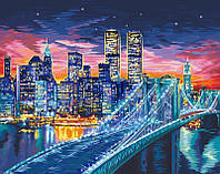 Картина по Номерам Ночной Манхэттен, фото 1