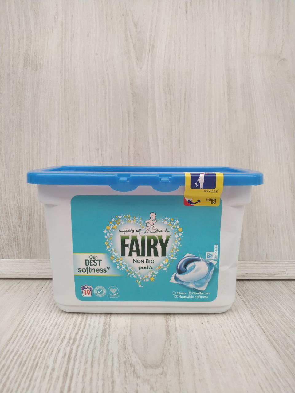 Капсулы для стирки Fairy 3 в 1 Non Bio  19 шт