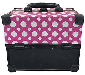Кейс для инструмента розовый горошек