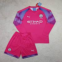 Футбольная форма с длинным рукавом МанСити/ Manchester City football uniform 2019-2020