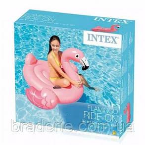 Надувной плот Фламинго розовый  Intex, фото 2