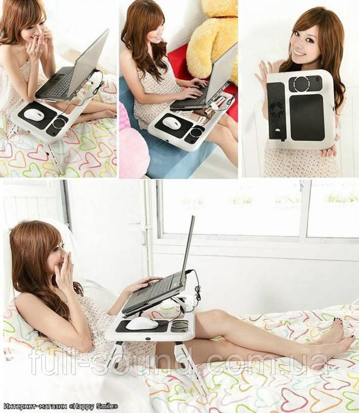 Многофункциональный складной столик для ноутбука, планшета E-table